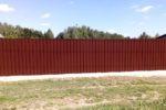 забор из профнастила метр
